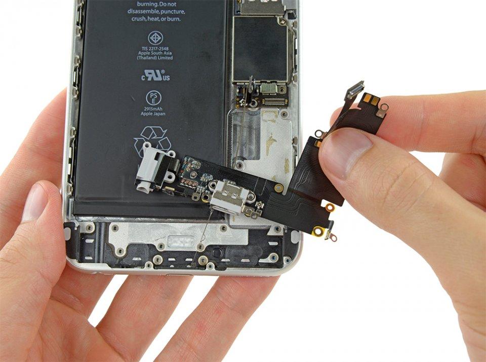 Фото: Ремонт гнезда зарядки iPhone 6 Plus